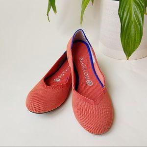 • Rothy's • Persimmon Marina Heel Stripe Flats 7